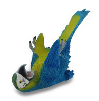 Zeckos Tropical Parrot Single Bottle Wine Holder
