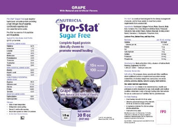 Nutricia North America Nutricia ProStat 64 Sugar Free Grape Liquid Protein - 30 oz 10 Pack