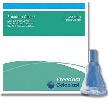 10 -Pack Condom External Catheter 23mm SMALL Freedom Clear Adhesive, Item #5100