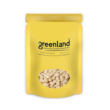 Greenland High Premium Unsalted Roasted Blanched Turkish Hazelnuts - (2 LB) Always Fresh