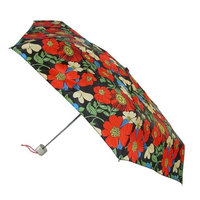 Totes Manual Mini Tropical Hibiscus Print Travel Compact Umbrella