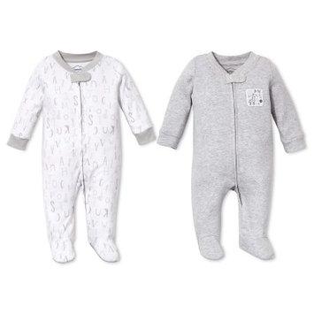 Lamaze Baby Organic 2 pc Sleep N' Play Set - Gray NB