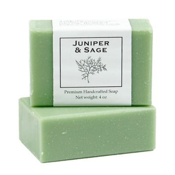 Juniper Sage Soap by MoonDance Soaps - Handmade Soap with Cocoa Butter and Shea Butter (One Bar)