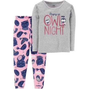 Child of Mine by Carter's Baby Toddler Girl 2 Piece Cotton Pajama Set