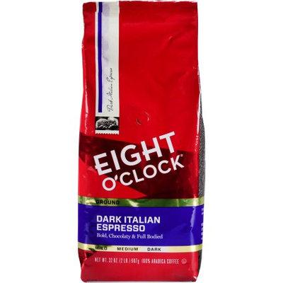 Eight O'clock Coffee Company Eight O'Clock Dark Italian Espresso Roast Ground Coffee, Dark Roasted, 32 oz