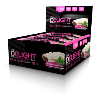 FitMiss Delight Baked High Protein Bar, Chocolate Peppermint, 12 Bars