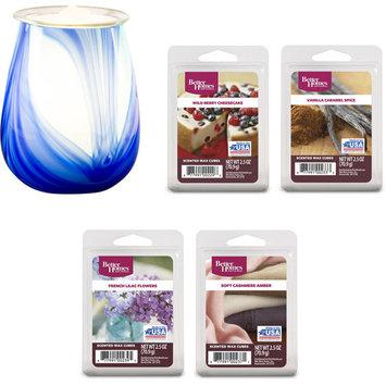 Better Homes and Gardens Rhapsody Art Glass Warmer and Wax Gift Set