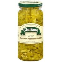 Giuliano Sliced Golden Peperoncini, 16 oz (Pack of 6)