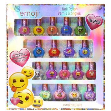 Kidplay Products Emoji Official 18pc Girls Nail Polish Non-Toxic Cosmetic Beauty Set