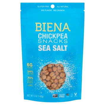 Biena Foods Biena, Chickpea Roasted Sea Salt, 5 Oz (Pack Of 8)
