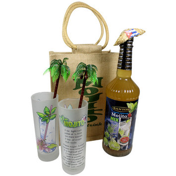 Mojito Gift Bag Mix Gift Set. Makes a great cocktail. Glasses included