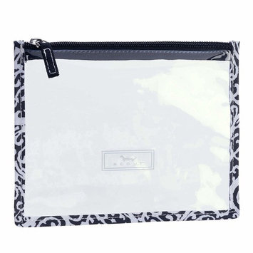 SCOUT Sheer Madness Clear Travel Pouch, TSA & NFL Stadium Approved, Touch Screen Compatible, Water Resistant, Zipper Closure