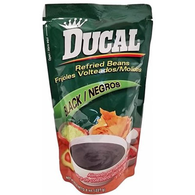 Ducal Refried Black Beans 8 oz - Frijoles Negros Refritos (Pack of 18)