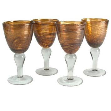 Artland 12 oz. Shimmer Goblet -Amber - Set of 4