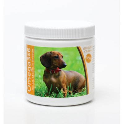 Healthy Breeds 840235142607 Dachshund Omega 3 & 6 Soft Chews - 60 count