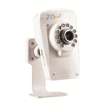 Zopid Easy Setup Network Camera for use with Smartphones for Baby or Remote Monitoring, White