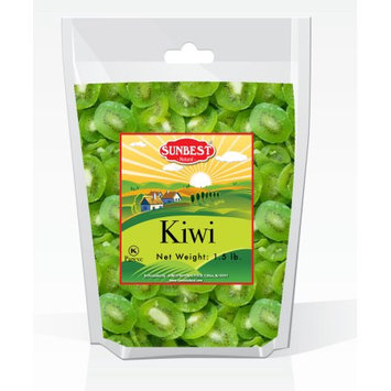 SUNBEST Dried Kiwi Slices 1.5 Lbs in Resealable Bag (24 Oz)