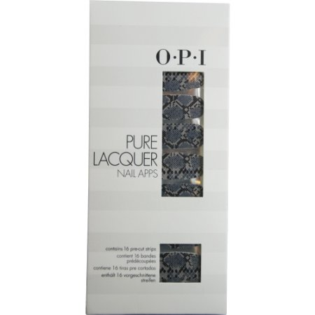 OPI 16 Count Pure Lacquer Nail Apps Blk-Grey Rattlesnake - AP100