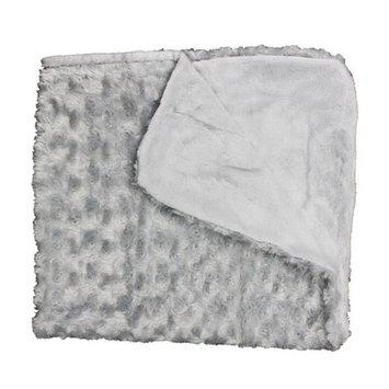 Rose Textile 1794 Curly Plush Blanket Grey