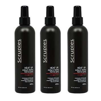 Scruples Heat Up Styling and Finishing Thermal Spray Firm 250 ml/8.5 oz Pack of 3