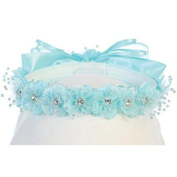 Little Girls One Size Flower Girl Hair Wreath Headband Floral Flower Girl Crown Crown Aqua