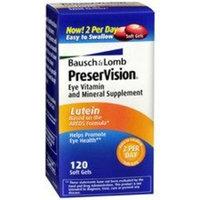 PreserVision AREDS Lutein Eye Vitamin & Mineral Supplement, Beta-Carotene Free, Soft Gels, 120 ct [Areds Lutein]