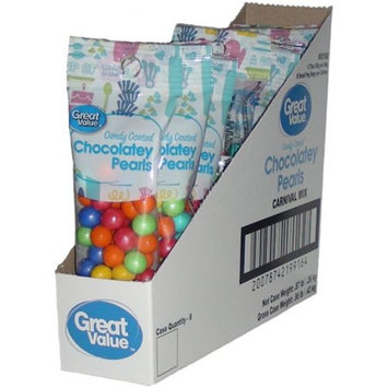Great Value Candy Coated Chocolatey Pearls, Red/Orange/Yellow/Blue/Green, 1.75 oz