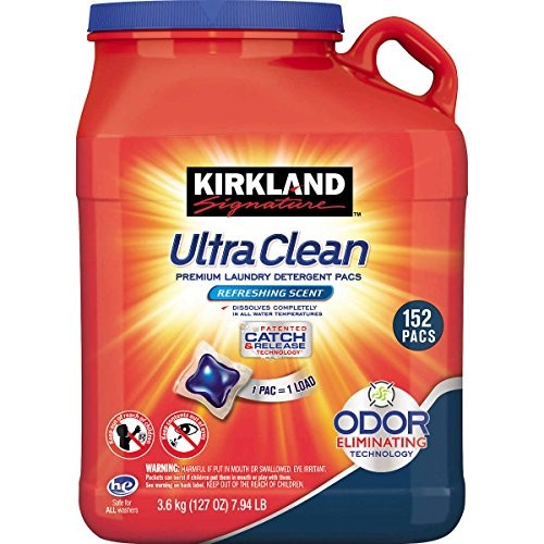 Kirkland Signature Ultra Clean Laundry Detergent (152 Pacs)