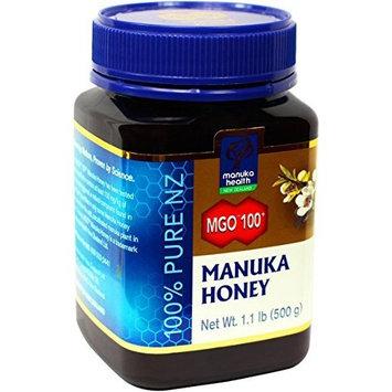 Manuka Health MGO 100+ Manuka Honey, 100% Pure New Zealand Honey, 1.1 lbs (500 g)