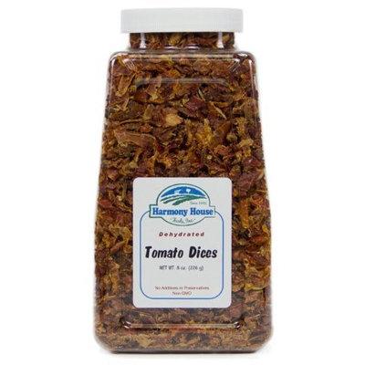 Harmony House Foods, Dried Tomatoes, Diced, 8 Ounce Quart Size Jar [Quart Size Jar]