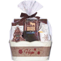 Design Pac Holiday Greetings Burlap Gift Basket, 8 pc
