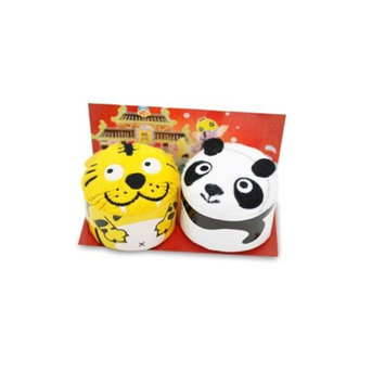 Couture Towel CT-GS15000017 13 x 14 x 2 in. Baby Panda & Smiley Tiger Towel Leaping The Dragon Gate