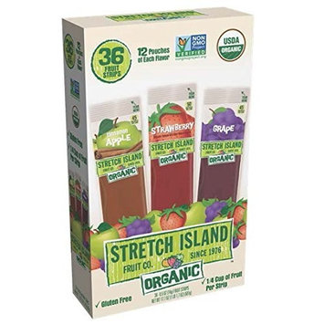 Stretch Island Organic Fruit Strips Variety Pack, 0.5 OZ(14G) Special 2 Pack ( 72 Count Total )