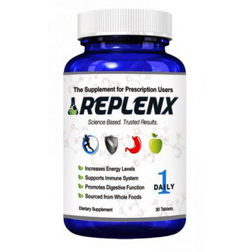 Rx Health Labs ReplenX The Supplement for Prescription Users Once Daily Whole Food MultiVitamin, 42 Fruit and Vegetable Complex, 30 Tablets