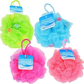 April Bath & Shower Mesh Bath Sponges, 5