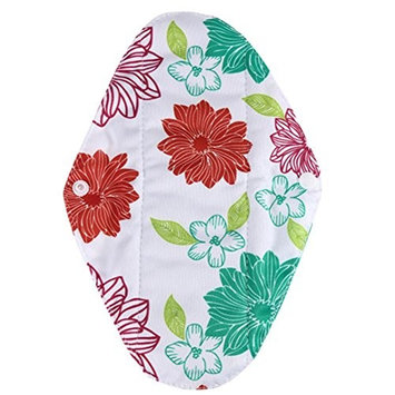 Reusable Menstrual Pads, Bestpriceam S/M/L Random Pattern Reusable Bamboo Cloth Washable Menstrual Pad Mama Sanitary (S, Green)
