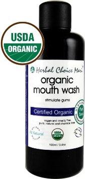 Herbal Choice Mari Organic Mouth Wash 100ml/ 3.4oz Bottle