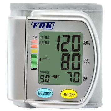 FDK FT-B12W-V BP Monitor Wrist Cuff With 1 Color Display And 90 Memory With 1 Bank