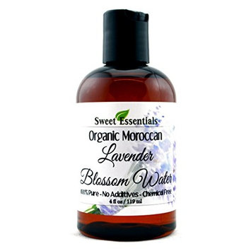 Organic Lavender Blossom Water 4oz   Imported From France   Premium Face Toner   Chemical Free   Gentle   Calming   100% Natural   Perfect for Reviving, Hydrating and Rejuvenating Your Face and Neck