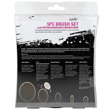 Epielle 5pc Brush Set with Interchangeable Brush Head