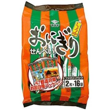 Masuya Japan onigiri rice crackers family pack 16 pcs x 10 bags