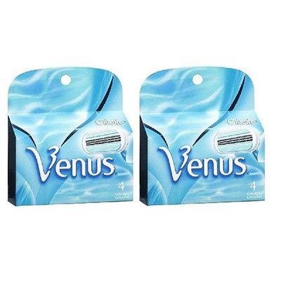 Gillette Venus Women's Refill Razor Blade Cartridges, 4 ct (Pack of 2)