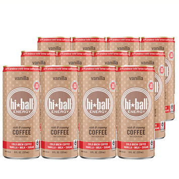 Hiball Energy Cold Brew Coffee Vanilla 8 Oz Cans - Pack of 12