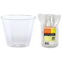 Hanna K Signature 2184921 9 oz Old Fashioned Clear Tumbler Heavyweight - Pack of 25