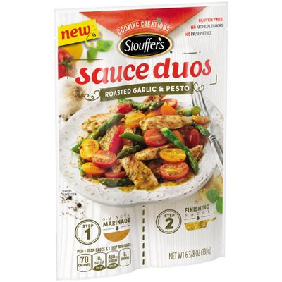 Nestle Usa/stouffer's Entrees STOUFFER'S Cooking Creations Roasted Garlic & Pesto Sauce Duos 6.38 oz Pack