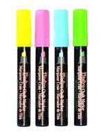 Marvy Uchida Bistro Chalk Marker Sets chisel point, fl. pink, fl. blue, fl. green, fl. yellow [pack of 2]