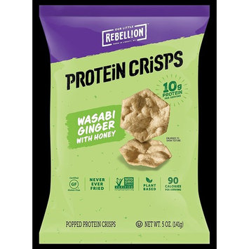 Rebellion Wild Wasabi Ginger with Honey Protein Crisps 5 Oz. (1 Bag)