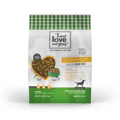 I and Love and You In the Raw Chicken Recipe Dehydrated Dog Food, 5.5 lbs.