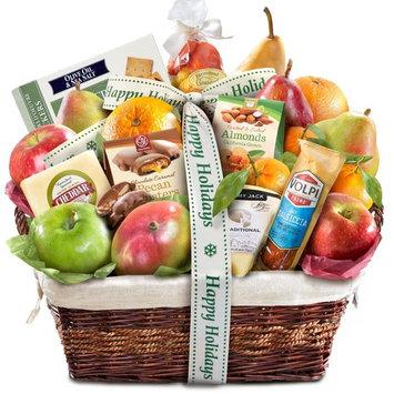 Gourmet Abundance Fruit Basket Gift (Happy Holidays)