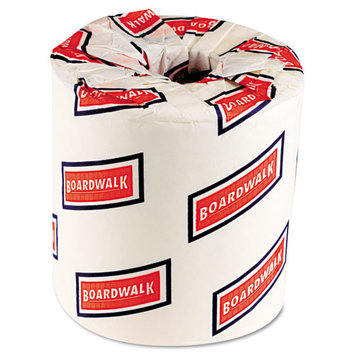 Boardwalk 6150 White Embossed 2-Ply Standard Toilet Tissue, 500 Sheets per Roll (Case of 96)